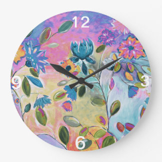 Flower Song 3 wall clock