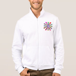 FLOWER Sparkle Colorful Graphic Jacket