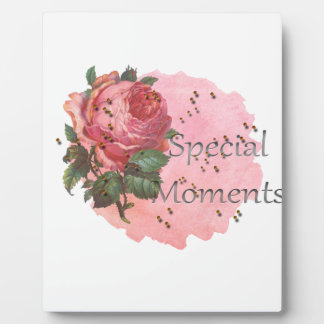 FLOWER SPECIAL MOMENTS PLAQUE