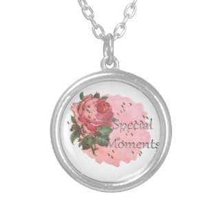 FLOWER SPECIAL MOMENTS SILVER PLATED NECKLACE
