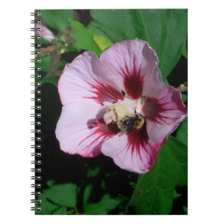Flower spiral photo note book