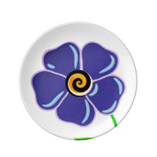 Flower Spiral Purple Plate