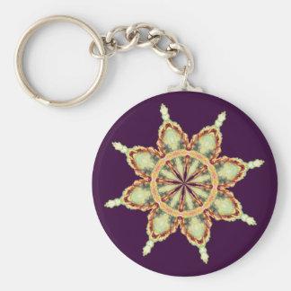 FLOWER STAR by SHARON SHARPE Basic Round Button Keychain