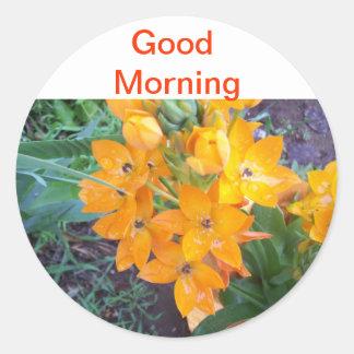 Flower Round Stickers