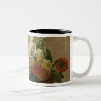Flower Still Life Two-Tone Coffee Mug
