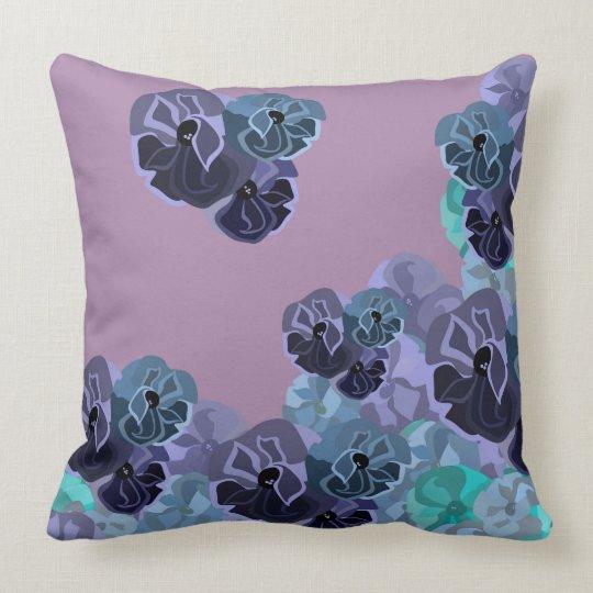 Flower Storm Cotton Throw Pillow
