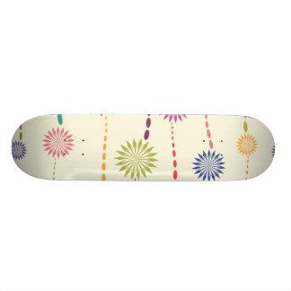 flower strings whimsical vector pattern ai skate board decks