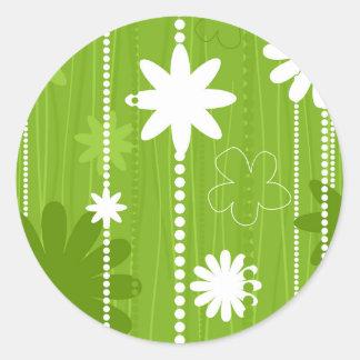 Flower structure classic round sticker