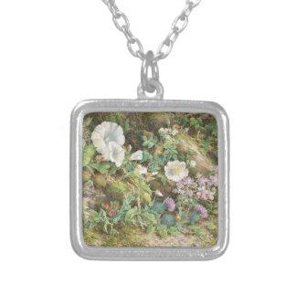 Flower Study - John Jessop Hardwick Silver Plated Necklace