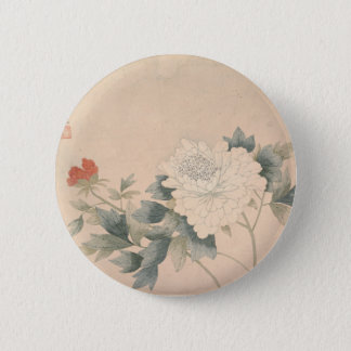 Flower Study - Yun Bing (Chinese) 2 Inch Round Button