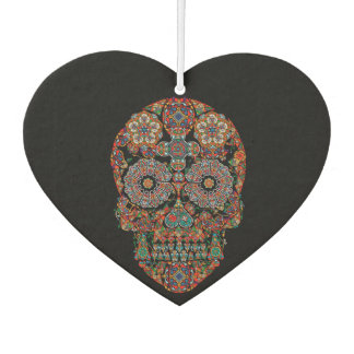 Flower Sugar Skull Heart Air Freshener