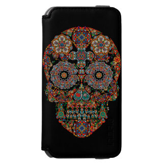 Flower Sugar Skull iPhone 6 Wallet Case Incipio Watson™ iPhone 6 Wallet Case