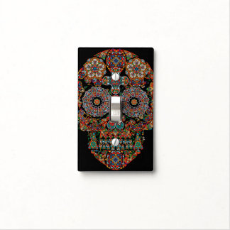 Flower Sugar Skull Light Switch Cover