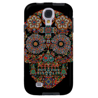 Flower Sugar Skull Samsung Galaxy S4 Case