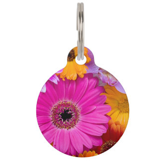 Flower Symphonie Pet ID Tags