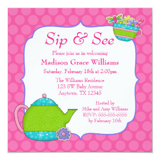 Sip N See Invitations Announcements Zazzle Canada