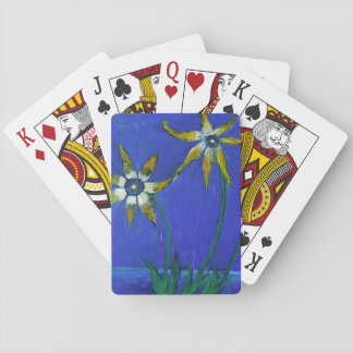 Flower textured art  Classic Playing Cards