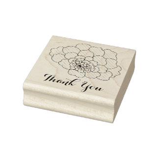 Flower Thank You Custom Sentiment Rubber Art Stamp