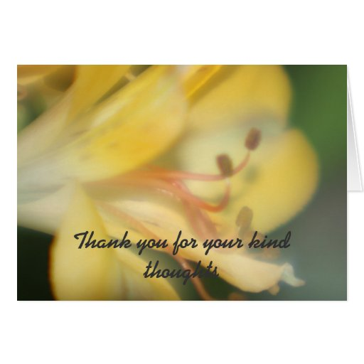 Flower Thank you for your kind thoughts Card Card
