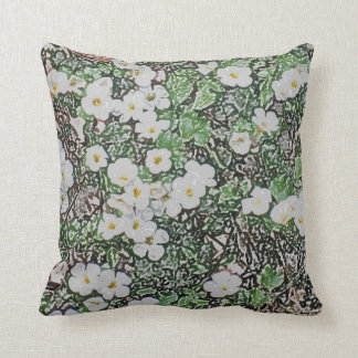 Flower throw pillow2 throw pillow