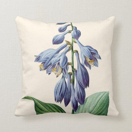 Flower Throw Pillow, Redoute, Botanical Art Throw Pillow