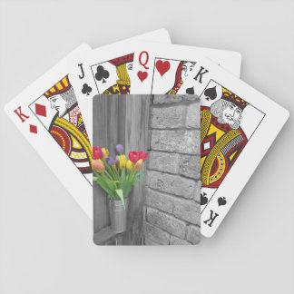 Flower Tin Playing Cards