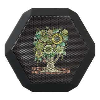Flower Tree Black Bluetooth Speaker