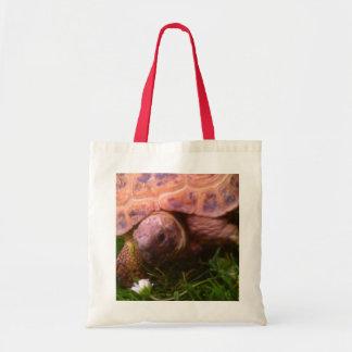 Flower Turtle Tote Bag