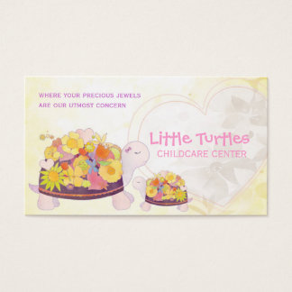 Flower Turtles Childcare Daycare Business Cards