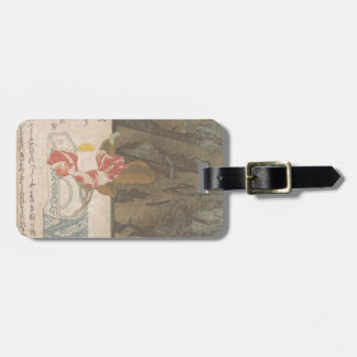 Flower Vase and Lacquer Box - Chinese Luggage Tag