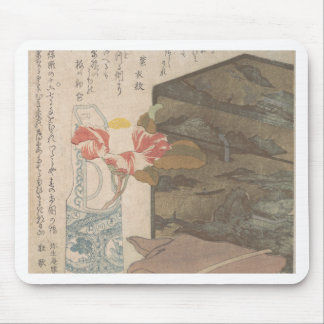 Flower Vase and Lacquer Box - Chinese Mouse Pad