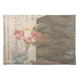 Flower Vase and Lacquer Box - Chinese Placemat