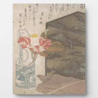 Flower Vase and Lacquer Box - Chinese Plaque
