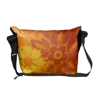 Flower Vectors Messenger Bags