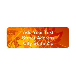 Flower Vectors Return Address Label