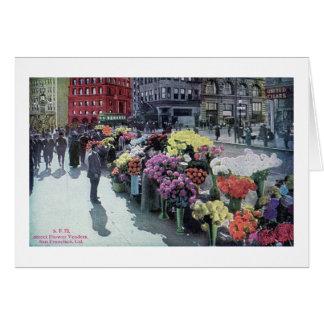 Flower Vendors, San Francisco 1926 Vintage Card
