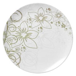 Flower Vine Dinner Plate