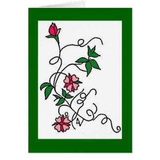 Flower vines card