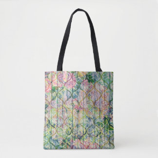 Flower Vines on the Fence Tote Bag