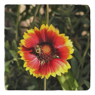 Flower with bee trivet