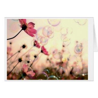 Flower With Bubbles Card