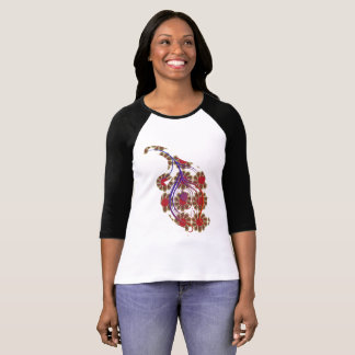 flower with feather t-shirt