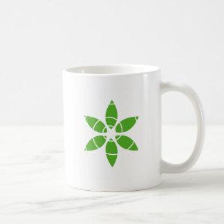 Flower with green leaves coffee mug