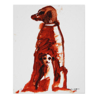 Flower with pup - Art Print