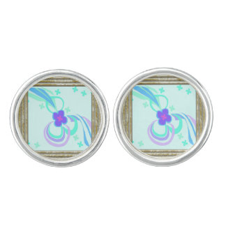 Flower With Ribbons Cufflinks