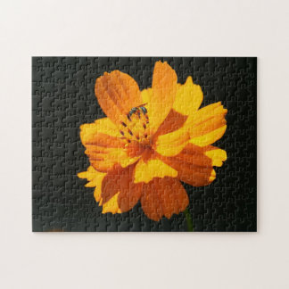 Flower with small Bee, Photo Puzzle. Jigsaw Puzzle
