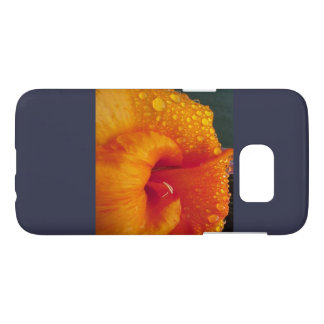 Flower with water drops samsung galaxy s7 case