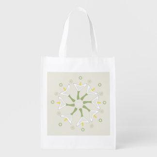 Flower Zen Reusable Grocery Bag