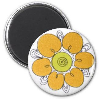 FlowerA 2 Inch Round Magnet