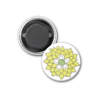 Flowerb 1 Inch Round Magnet